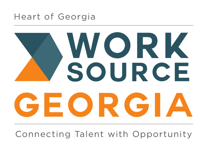Heart of Georgia WorkSource Georgia Logo (Connecting Talent with Opportunity)