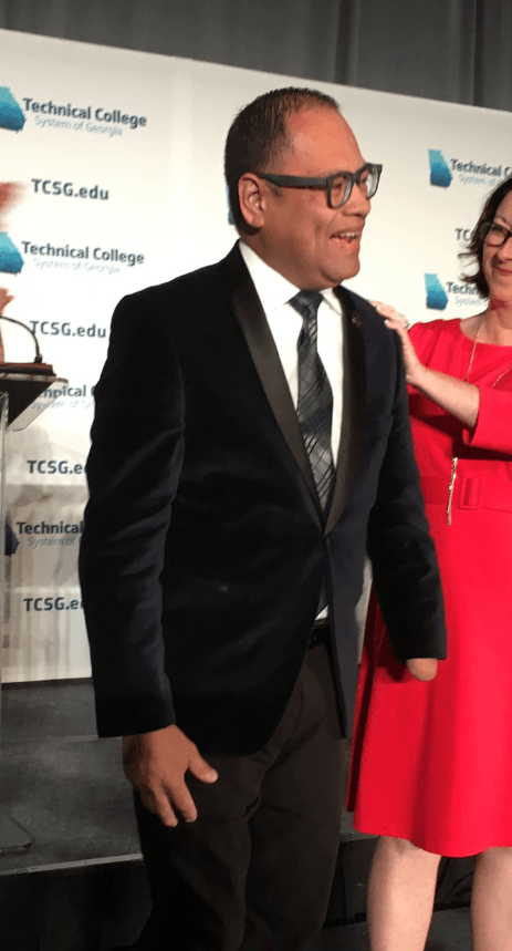 Leyner Argueta of Georgia Northwestern Technical College received the 2019 State Rick Perkins Award for Excellence in Technical Instruction (RPA)